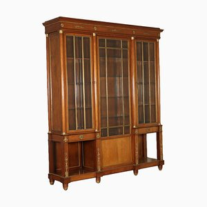 Antique Empire Italian Bronze and Glass Cabinet