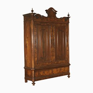 Antique Italian Burl and Veneer Wardrobe