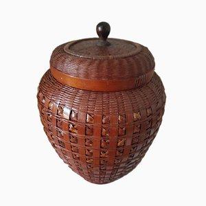 Vintage Japanese Tea Basket, 1920s