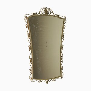 Mid-Century Italian Wrought Iron Mirror, 1950s