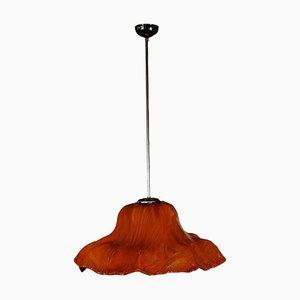 Lámpara de techo Ninfea italiana de vidrio esmaltado de Toni Zuccheri para Venini, años 60