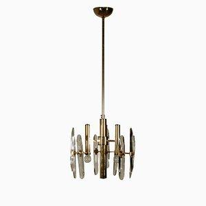 Lámpara de techo italiana vintage de metal, años 70