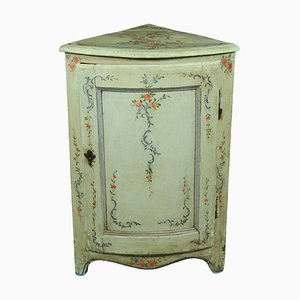Antique Italian Lacquered Corner Cabinet