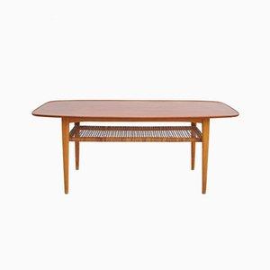 Table Basse à 2 Niveaux Mid-Century en Teck & Frêne, 1950s