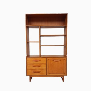 Teak Veneer Shelving Unit from Stonehill, 1970s