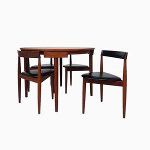 Tavolo da pranzo in teak con sedie di Hans Olsen per Frem Røjle, anni '60