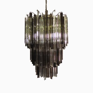 Vintage Italian Glass Chandelier, 1984