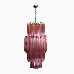 Large Vintage Italian Murano Glass Chandelier, 1984