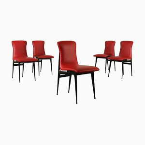 Mid-Century Italian Dining Chairs, Set of 5