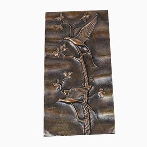 Italian Copper Wall Panel from Studio Cellini, 1950s