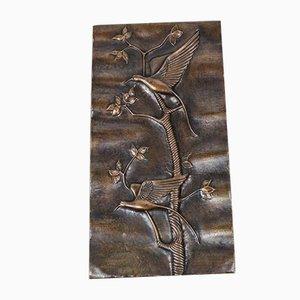 Panel de pared italiano de cobre de Studio Cellini, años 50