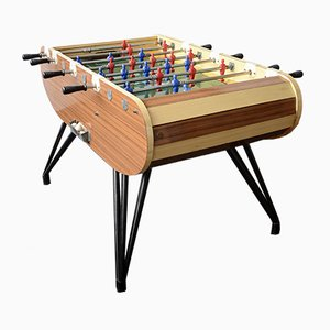 Italian Chrome, Steel, and Wood Game Table from F.A.S.N.A. Torino, 1960s