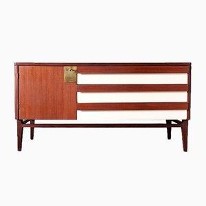 Scandinavian Modern Italian Laminate and Teak Dresser, 1950s
