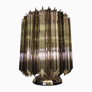 Lampes de Bureau Quadriedri Vintage en Verre, Italie, 1981, Set de 2