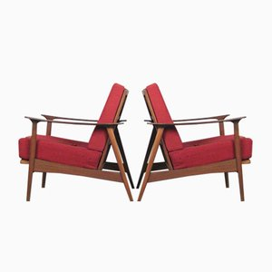 Danish Teak Armchairs by Arne Vodder, 1950s, Set of 2