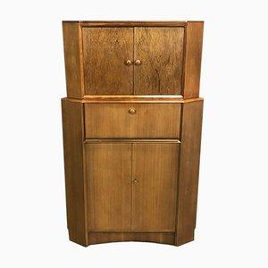 Mueble esquinero vintage de teca, años 70