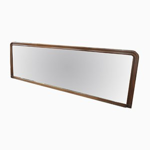 Large Antique Industrial French Mahogany Mirror, 1900s