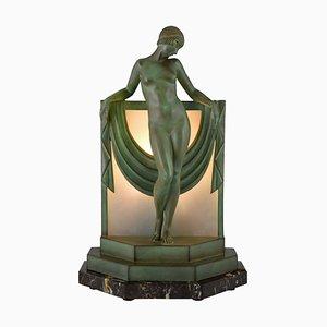 Lampada da tavolo Art Déco di Pierre Le Faguays per Max Le Verrier, Francia, anni '30
