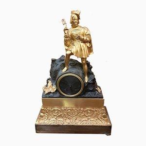 Reloj Imperio francés antiguo de bronce