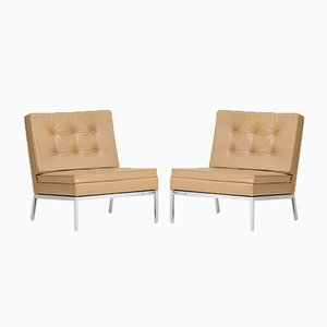 Beige Lounge Chairs by Florence Knoll Bassett for Knoll Inc./Knoll International, 1960s, Set of 2