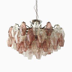 Lámpara de techo Poliedri de Carlo Scarpa para Venini, años 60