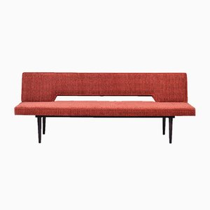 Mid-Century Red Beech Sofa by Miroslav Navratil, 1962