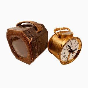 Horloge Artisanale Antique en Plaqué Or, France