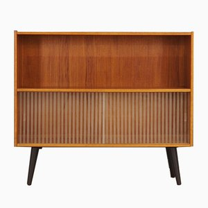 Danish Glass and Teak Shelf from Clausen & Søn, 1960s