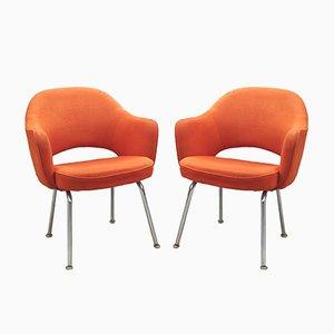 Sillas de conferencia de Eero Saarinen para Knoll, años 60. Juego de 2