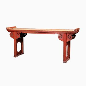 19th-Century Elm Altar Table, 1930s