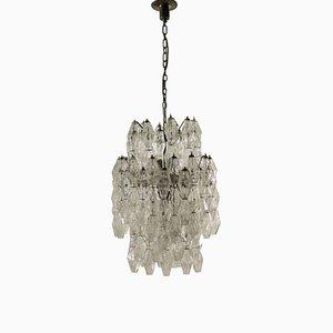 Lámpara de araña Poliedro italiana vintage de Carlo Scarpa para Venini