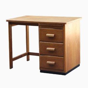 Französischer Mid-Century Schreibtisch aus Eiche & Holz, 1950er