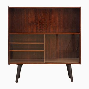 Mid-Century Danish Glass and Rosewood Bookcase, 1960s