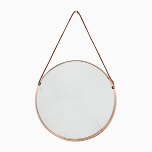Espejo Mid-Century de cobre, años 60
