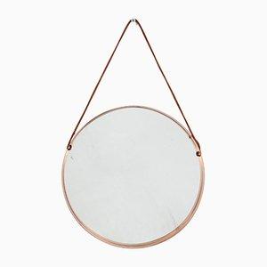 Mid-Century Spiegel mit Kupferrahmen, 1960er