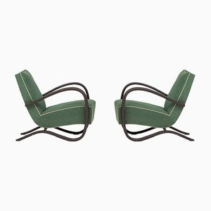 Wooden Armchairs by Jindřich Halabala, 1930s, Set of 2