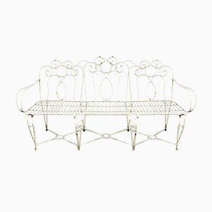 Mid-Century French Wrought Iron Garden Bench, 1960s