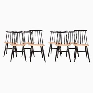 Beistellstühle aus Holz von Ilmari Tapiovaara für Edsby Verken, 1960er, 8er Set