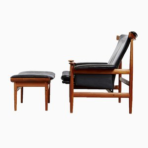 Danish No. 152 Bwana Lounge Chair & Ottoman by Finn Juhl for France & Søn / France & Daverkosen, 1970s