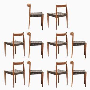 Dänische Beistellstühle aus Eiche von Jørgen & Nanna Ditzel für Kolds Savværk, 1950er, 10er Set