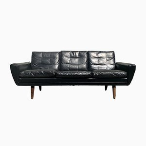 Scandinavian Modern Danish Leather Sofa by Georg Thams for Vejen Polstermøbelfabrik, 1960s