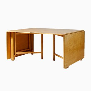 Model Maria Flap Beech & Birch Dining Table by Bruno Mathsson, 1960s
