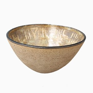 Ceramic Decorative Bowl by Bruno Gambone, 1990s