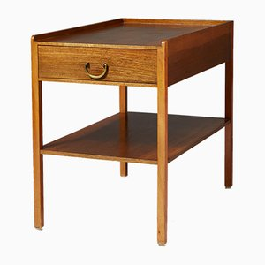 Model 914 Brass and Mahogany Nightstand by Josef Frank for Svenskt Tenn, 1950s