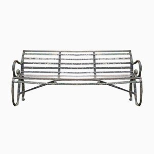 Antique Wrought Iron 4-Seater Garden Bench