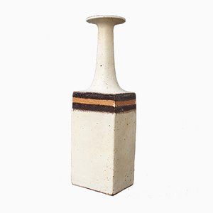 Recipiente decorativo de cerámica de Bruno Gambone, años 70