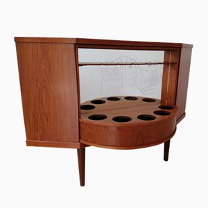 Mobile bar Mid-Century in teak, anni '60