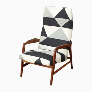 Mid-Century Dutch Teak Armchair, 1960s
