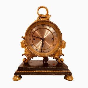 Horloge Antique en Plaqué Or par Anton Liszt