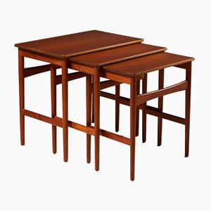Modernist Danish Teak Console Table by Hans J. Wegner, 1950s
